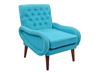 Arm Wooden Upholstered Chair:   by Natural Fibres Export