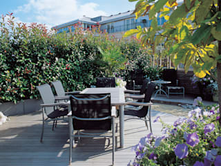 A Roof Garden, Chelsea:  Terrace by Bowles & Wyer