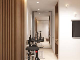Pasillos, vestíbulos y escaleras minimalistas de Y.F.architects Minimalista