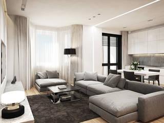 Salones minimalistas de Y.F.architects Minimalista