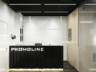 Edificios de oficinas de estilo industrial de Y.F.architects Industrial