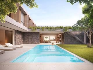 Casa H Piscinas minimalistas por Mader Arquitetos Associados Minimalista