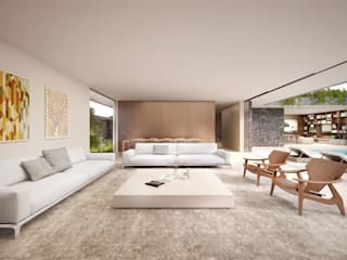غرفة المعيشة تنفيذ Mader Arquitetos Associados