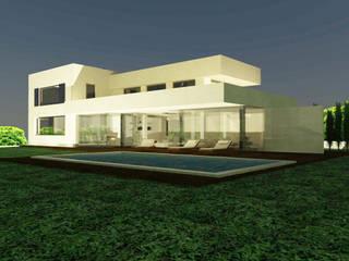 Reforma vivienda unifamiliar Casas de estilo moderno de BR&C arquitectos Moderno Piedra