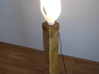 Stehlampe/Holzlampe ! Upcycling ! von Holzsteinkunstobjekte Ausgefallen