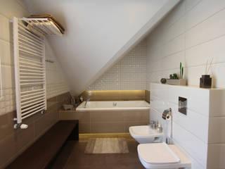 Baños de estilo  por Architektura Wnętrz Magdalena Sidor