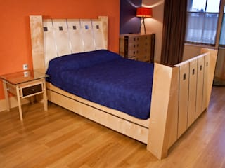 Bedroom Suite in Ripple Sycamore:   by Design in Wood