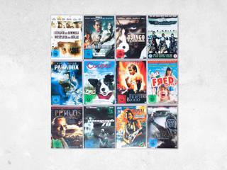 DVD-Wandregal4x3 in Edelstahl - Film Design für Wände und Möbel:   von CD-Wall