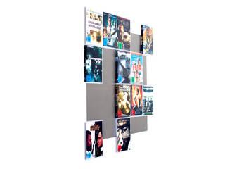 DVD-Wandregal5x4 in Edelstahl - schafft multimediales Wand Design:   von CD-Wall