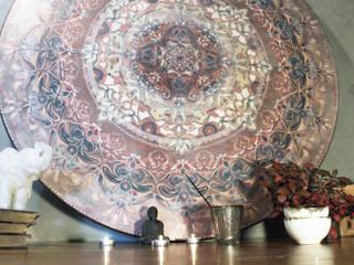 mandala szaro-biało Ściany i podłogiDekoracje ścienne