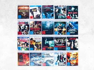 Blu-Ray Wandregal für flachen Montage Ihrer Filme:   von CD-Wall