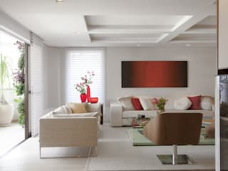 Salones de estilo  de Marcelo Rosset Arquitetura, Moderno
