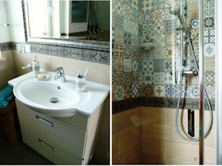 DOM NA MAZURACH / HOUSE IN MASURIA Baños de estilo mediterráneo de Drob Design Mediterráneo