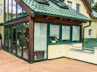 Legacy Balcon, Veranda & Terrasse rustiques par TimberTech Rustique