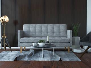 Mały salon Industrialny salon od GoodDesign Industrialny