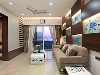 INTERIOR DESIGNERS IN KHARGHAR Modern living room by DELECON DESIGN COMPANY Modern