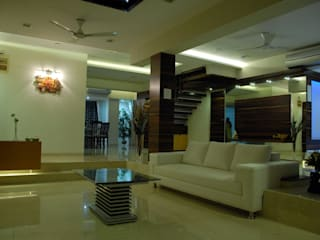 INTERIOR DESIGNERS IN KHARGHAR Modern dining room by DELECON DESIGN COMPANY Modern