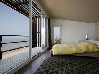 Maison de Vacances Ver/Mer Natacha Goudchaux Architecte d'interieur Chambre moderne