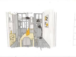 Aménagement d'un rez de chaussée par Sandra Merlin