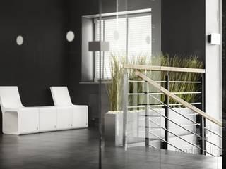 Stołek Harmony z oparciem: styl , w kategorii  zaprojektowany przez Modern Line