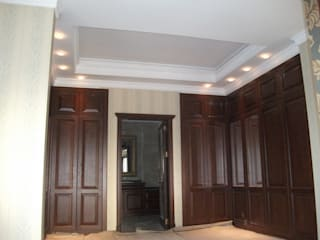 Modern corridor, hallway & stairs by AÇIT MİMARLIK DEKORASYON İNŞ. SAN. TİC. LTD. Modern