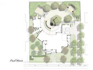 Spirale Gartengestaltung mit Feuerstelle im Zentrum: modern  von Ecologic City Garden - Paul Marie Creation,Modern