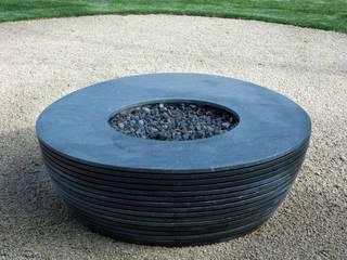 Spirale Gartengestaltung mit Feuerstelle im Zentrum Moderner Garten von Ecologic City Garden - Paul Marie Creation Modern