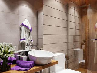 Проект 003: Ванная: Ванные комнаты в . Автор – студия визуализации и дизайна интерьера '3dm2', Минимализм
