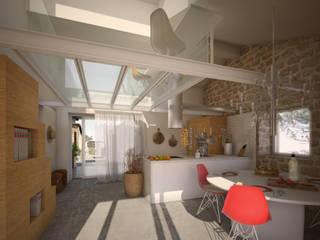 Salle à manger rurale par Architetto Alboini Maria Gabriella Rural