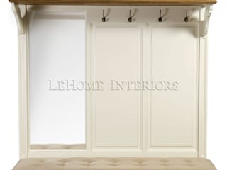 LeHome Interiors Corridor, hallway & stairsClothes hooks & stands Wood White