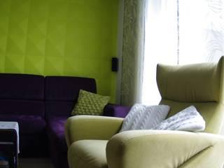 Mały dom jednorodzinny : styl , w kategorii Salon zaprojektowany przez Pegaz Design Justyna Łuczak - Gręda,