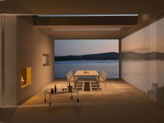 buerger katsota zt gmbh Balkon, Beranda & Teras Gaya Mediteran Batu Grey
