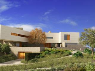 Fachada Norte - Acceso principal: Casas de estilo  de TUAN&CO. arquitectura