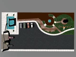 ACCESO RESIDENCIAL LAN-KIN: Casas de estilo  por M4X ,