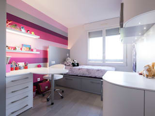 LA CUISINE DANS LE BAIN SK CONCEPT Eclectic style nursery/kids room Pink