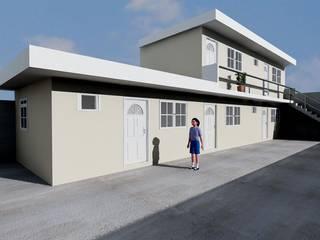 AMPLIACION DEPARTAMENTOS: Casas de estilo  por M4X ,