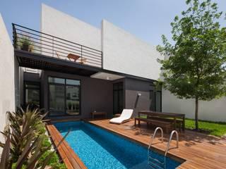 LGZ Taller de arquitectura Balcones y terrazas modernos: Ideas, imágenes y decoración Madera Acabado en madera