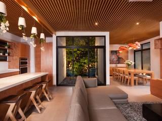 LGZ Taller de arquitectura Livings modernos: Ideas, imágenes y decoración Madera Acabado en madera