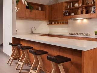 LGZ Taller de arquitectura Modern kitchen Wood Wood effect
