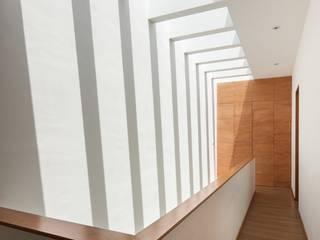 Casa Ming: Pasillos y recibidores de estilo  por LGZ Taller de arquitectura