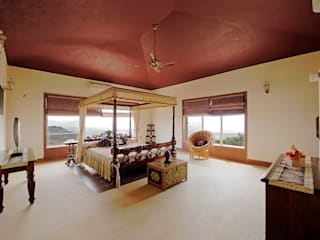 Lonavla Bungalow Asian style bedroom by JAYESH SHAH ARCHITECTS Asian