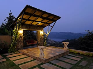 Lonavla Bungalow Asian style garden by JAYESH SHAH ARCHITECTS Asian