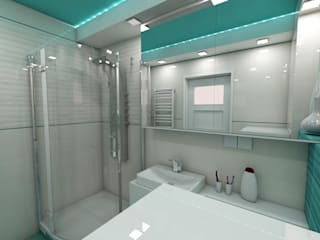 Baños de estilo moderno de Katarzyna Wnęk Moderno