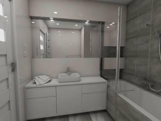 Salle de bain minimaliste par Katarzyna Wnęk Minimaliste