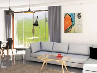 Katarzyna Wnęk 现代客厅設計點子、靈感 & 圖片