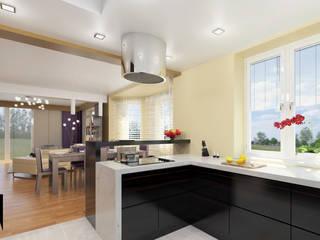 Cocinas de estilo moderno de Katarzyna Wnęk Moderno
