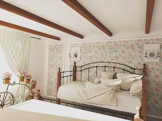 Прованс в загородном доме Спальня в стиле кантри от Алёна Демшинова Кантри