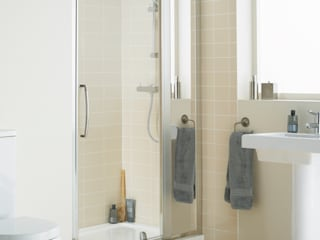 Mirror: Inline panel:  Bathroom by Lakes Bathrooms