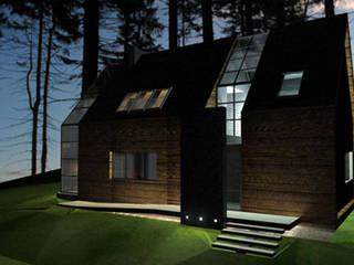 Casas de estilo  por Piekarek Projekt-Paweł Piekarek