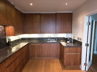 American Black Walnut Vauxhall Kitchen designed and made by Tim Wood by Tim Wood Limited Modern